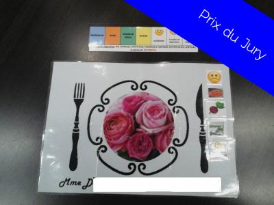 Elaboration de sets de table de couleur personnalis s pour - Set de table personnalise plastifie ...