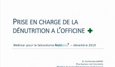Prise en charge de la dénutrition