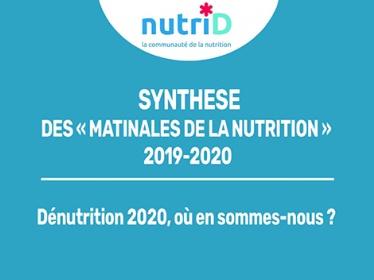 Infographie synthèse des Matinales de la Nutrition 2019-2020